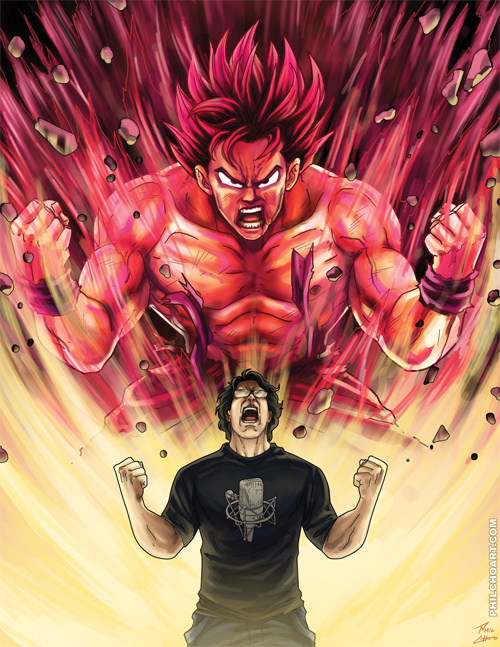 Goku and Sean Schemmel