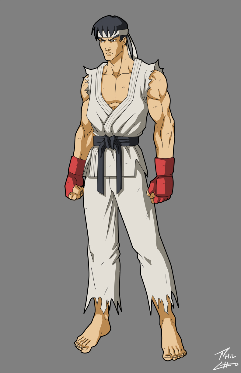 "based on Mike Moh as Ryu in ""Street Fighter: Assassin's Fist"""