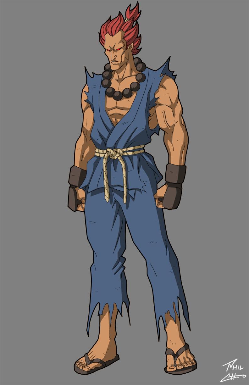 "based on Joey Ansah as Akuma/Gouki in ""Street Fighter: Assassin's Fist"""