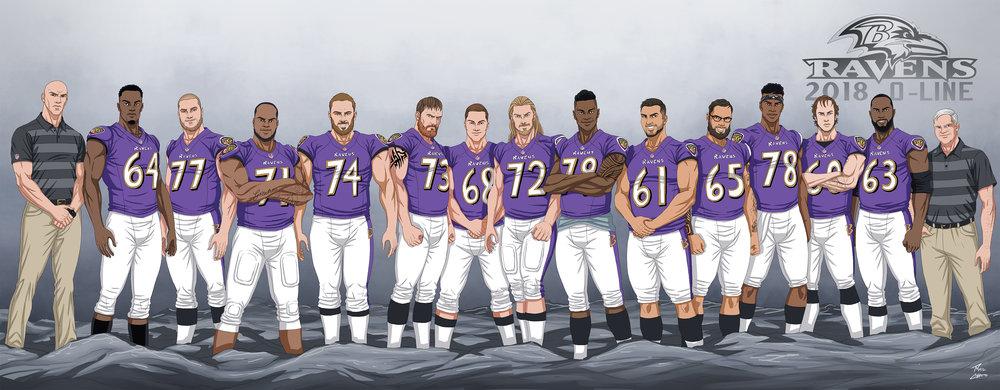Ravens 2018 O-Line