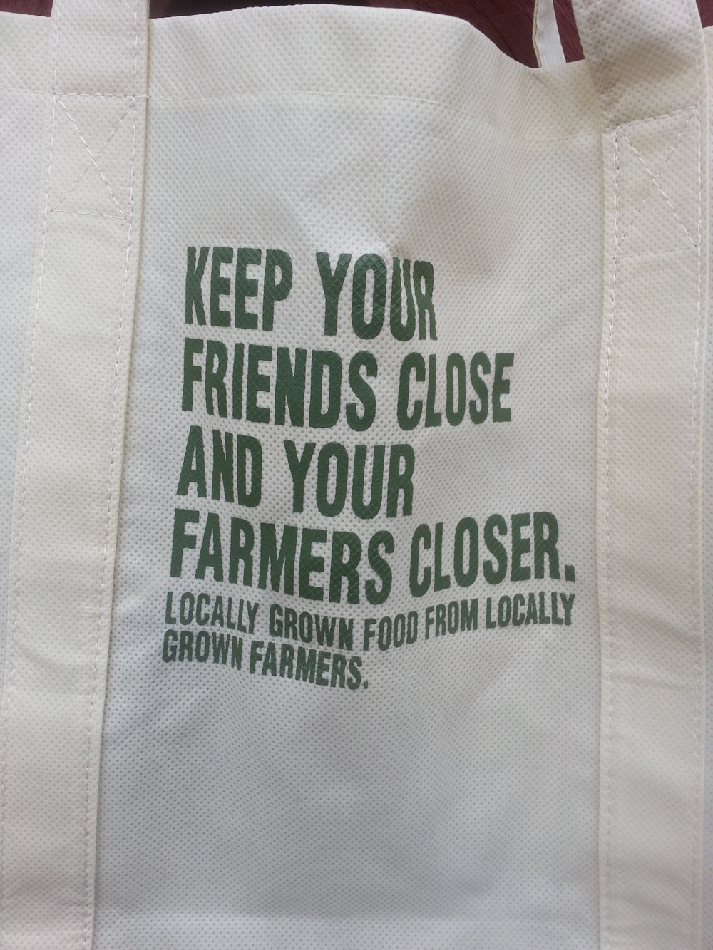 Truer words were never printed on a tote.