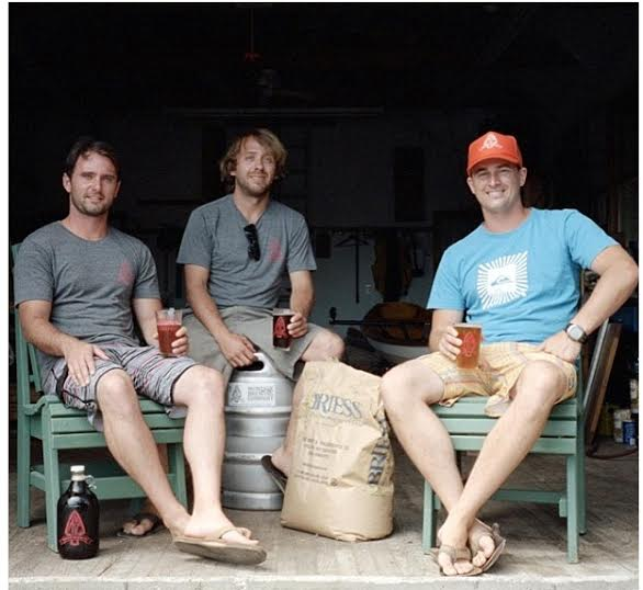 Vaughan, Eric, and Joe, the crew behind Montauk Brewing