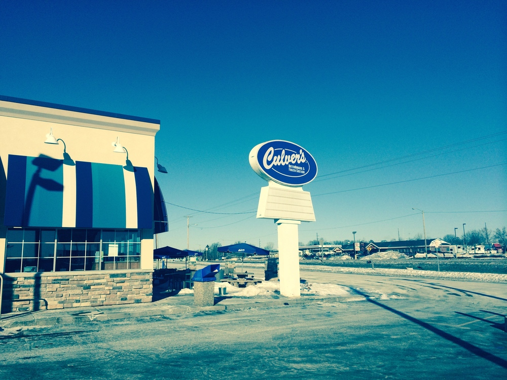"Nothing screams ""Wisconsin"" like a Culvers in 7º fahrenheit."