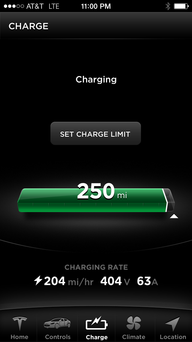 Model S iPhone Application