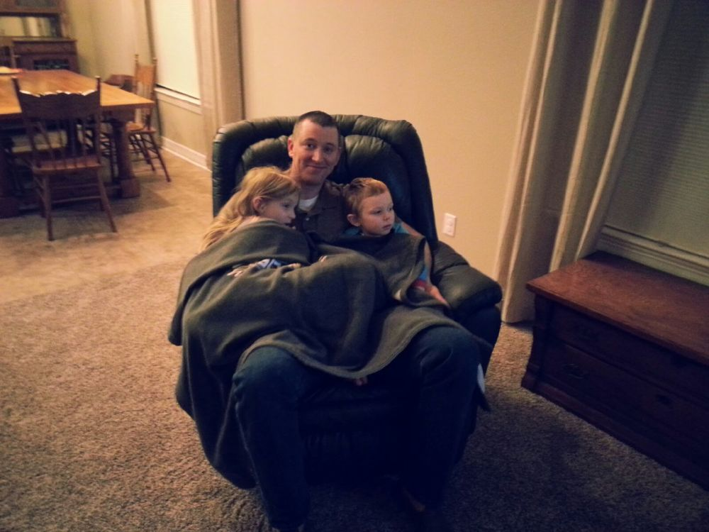 Some rocking chair therapy with Dad! I am so thankful for moments like this!