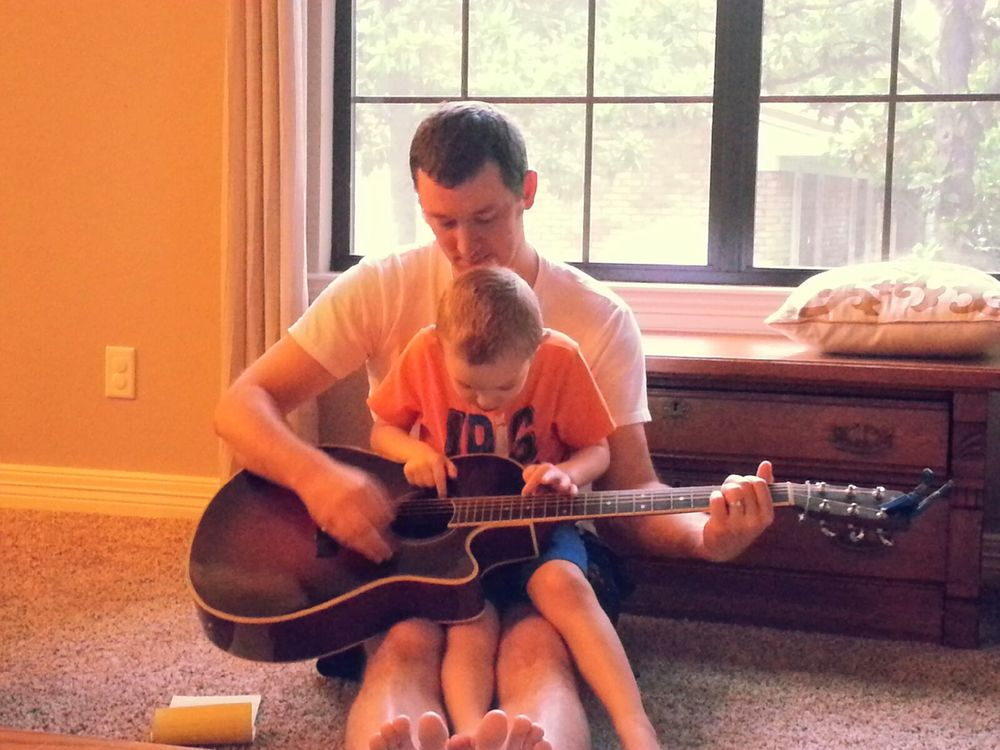 Ezra and Daddy play guitar! Thank You, Lord, for moments like this!