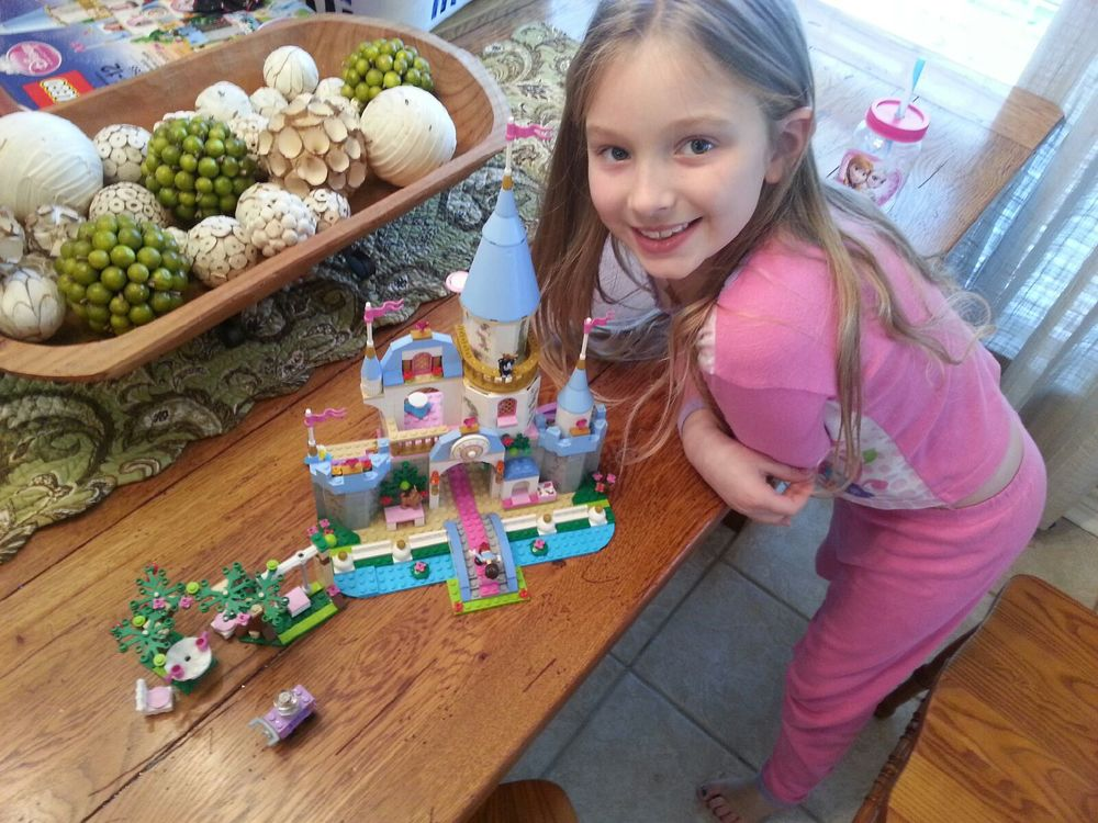 Treasuring this beautiful girl and hours spent building her castle.
