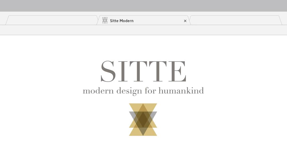 SITTE, LLC  PROJECT: This logo was designed for a start-up furniture store. I created a tagline to clarify services provided by the client (Modern Design for Humankind), and a cohesive URL (sittemodern.com). The logo was created to be versatile; full color for applications on white, and single color for a letterpress look. This logo was also created with many layout choices; just the icon, full logo lockup including the tagline, and icon with the wordmark.