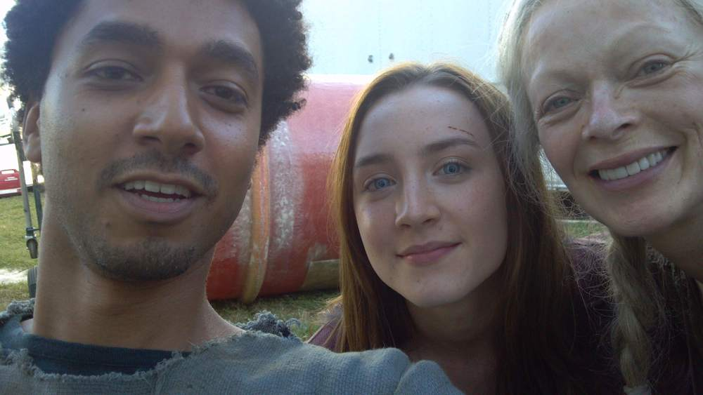 SCP on the set of  THE HOST  with Saoirse Ronan & Frances Fisher