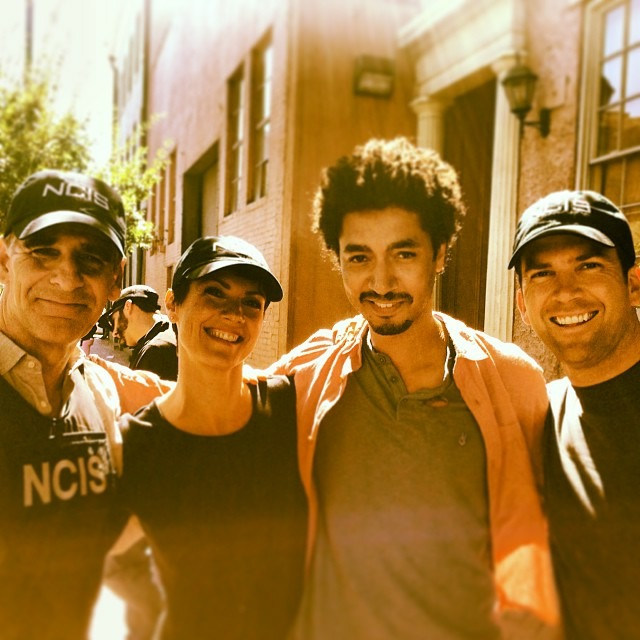 SCP filming  NCIS: NEW ORLEANS  with cast members  Scott Bakula, Zoe McLellan  and  Lucas Black
