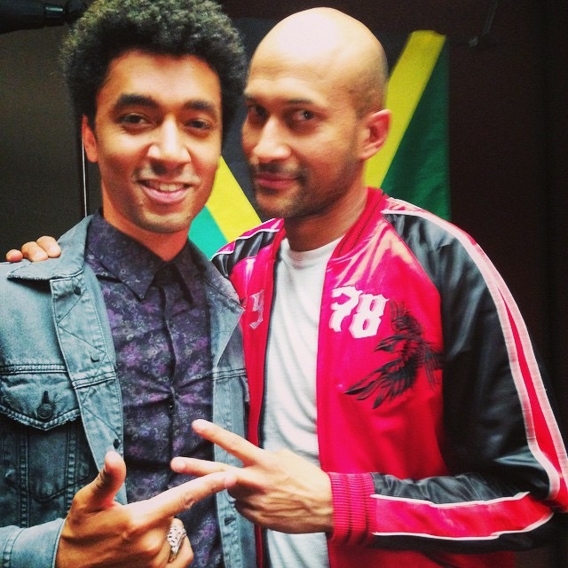 SCP on the set of  PITCH PERFECT 2  with Keegan-Michael Key