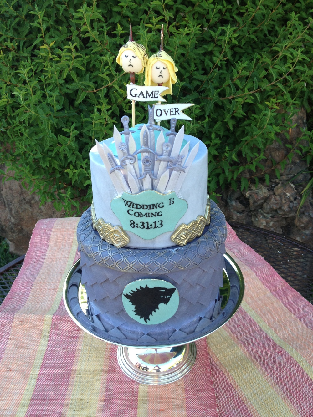 """Game of Thrones"" Groom's cake"