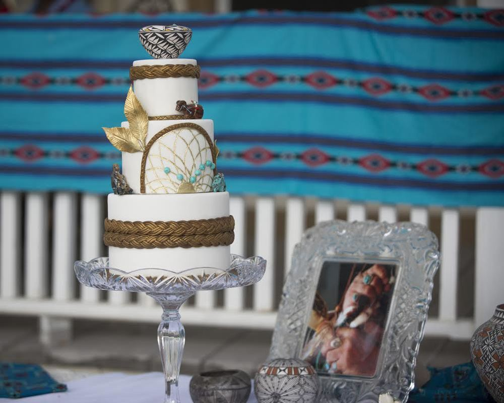 "Ariza Photography (ArizaPhoto.com).... ""Native American replica wedding cake"""