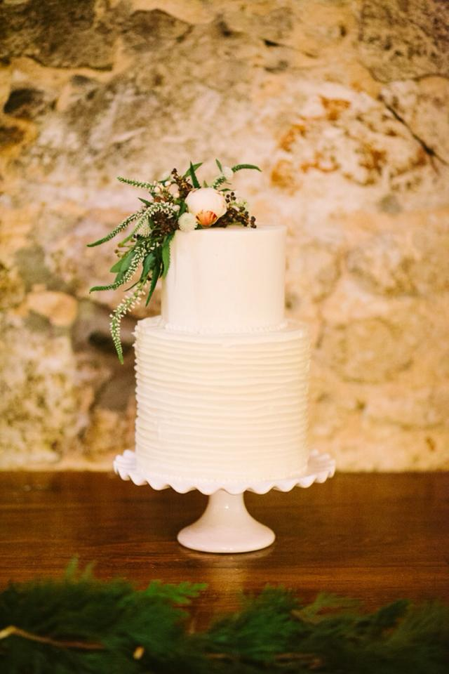 "Michael Howard Photography...."" 2 tier winter wedding cake with fresh flowers"""