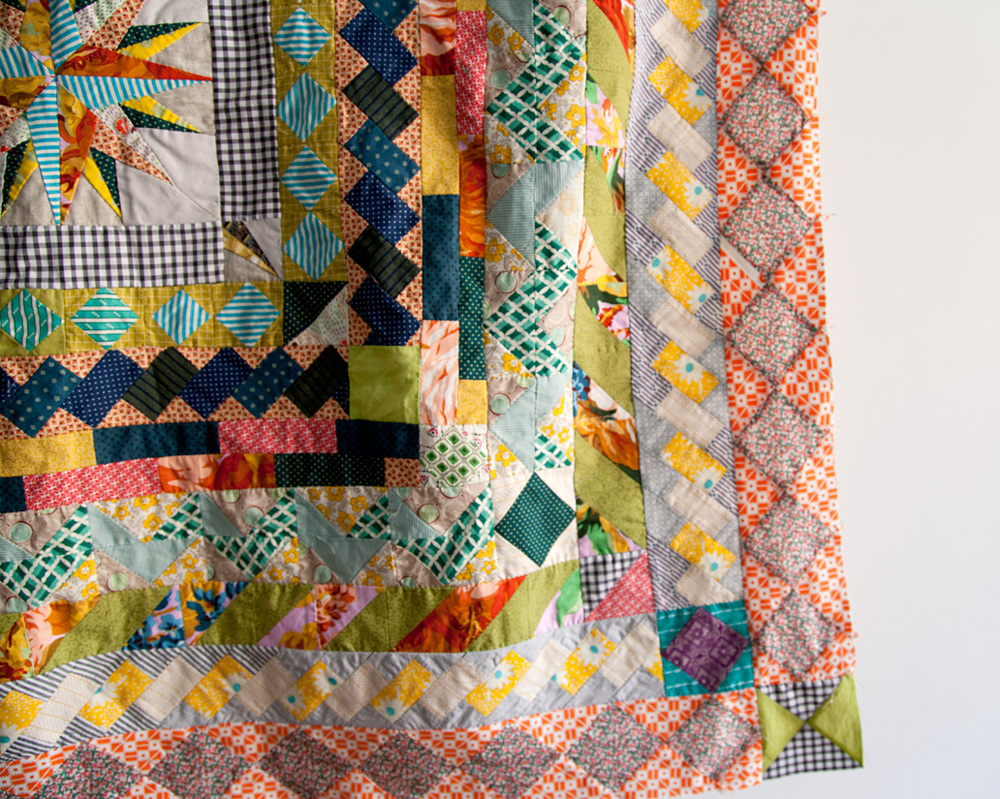 Medallion Quilt, hand pieced. (detail in progress 7.12.11) Pattern courtesy of Anita at Bloomin' Workshop