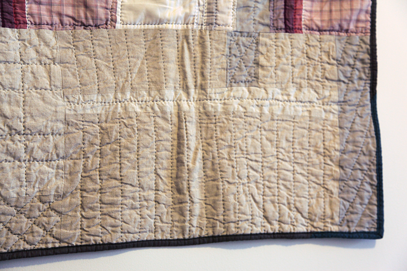 Hankies Quilt (detail), machine pieced and hand quilted. 2011