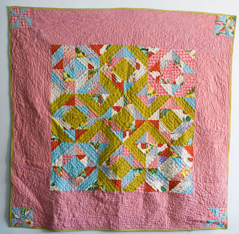 Lattice Quilt, machine pieced and hand quilted. 2010