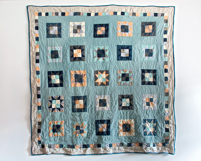 Half to Whole , machine pieced and hand quilted. 2010