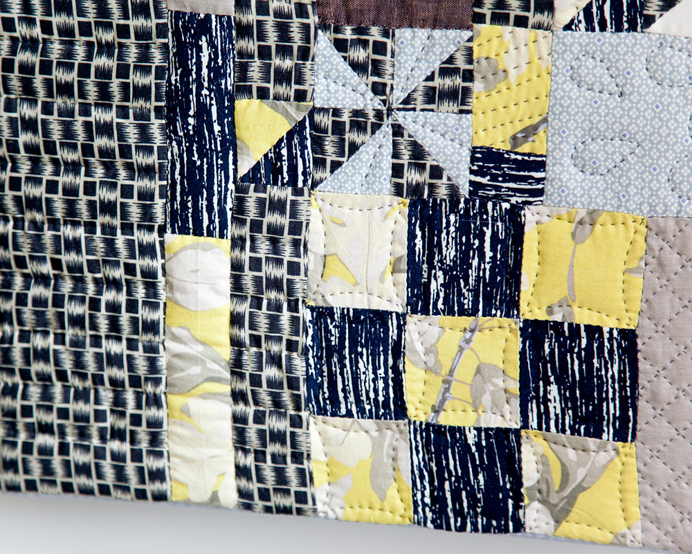 Scraps V.1  (detail), hand pieced and quilted. 2013