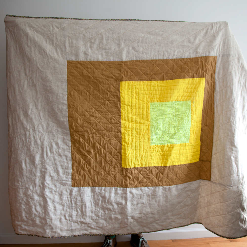 Ode to Albers, machine pieced and machine quilted. 2013