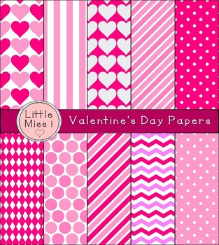 Little Miss i's Digital Papers