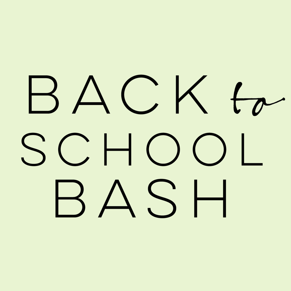 Back to School Bash | everythingjustso.org | Looking for ideas, tips, and resources as you head back to school? We're here to help!