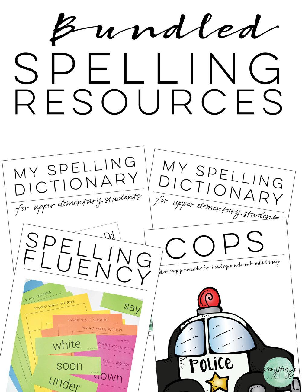 Spelling Resources Bundle | shopeverythingjustso.org