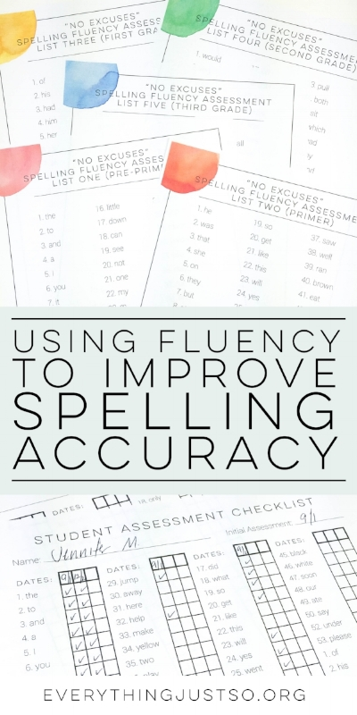 Using Fluency to Improve Spelling Automaticity | everythingjustso.org | In the first of two posts, learn why using Spelling Fluency is a necessary component of any rules-based spelling program. Teach students how to master sight words while becoming responsible for their own learning.