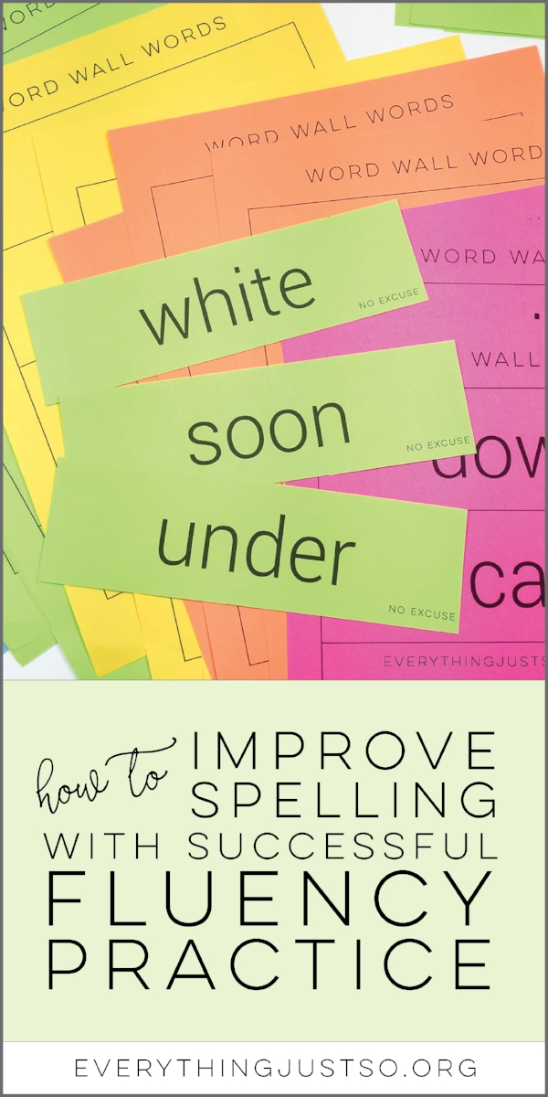 How to Improve Spelling with Successful Fluency Practice | Learn how to make those sight words and other tricky spellings stick for good by incorporating fluency practices into your spelling routine. | everythingjustso.org