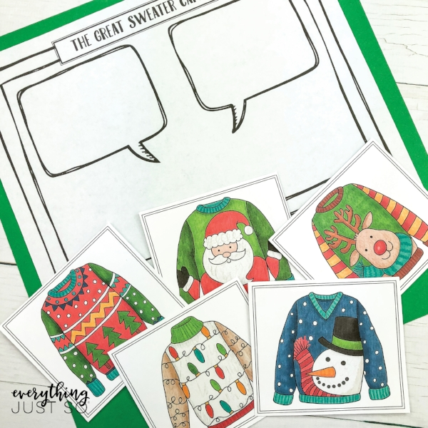 Ugly Sweater Writing Mini-Unit | One week worth of interconnected writing tasks based on those ugly Christmas sweaters we all love to hate. | everythingjustso.org
