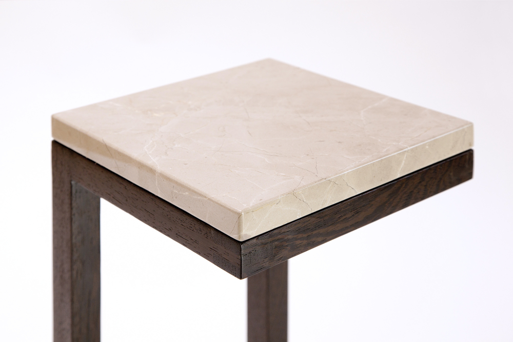 Terrance Side Table   Front Top Detail View