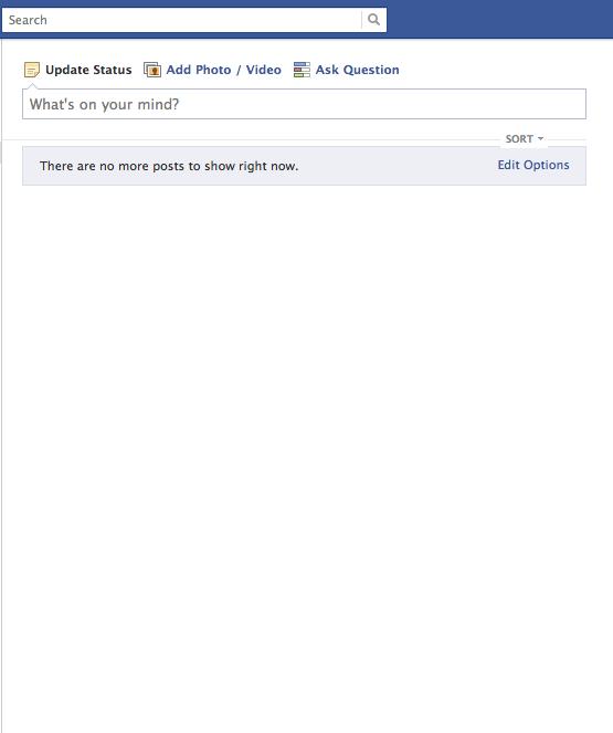 Empty-Facebook