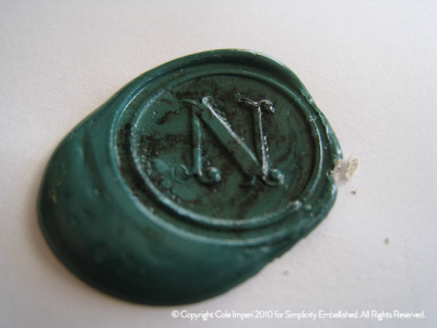 Dried Wax Seal Stamp