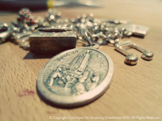 Charm Bracelet with Our Lady of Fatima Charm