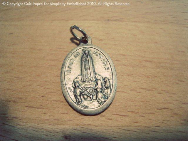 Charm Bracelet with Lady of Fatima Charm