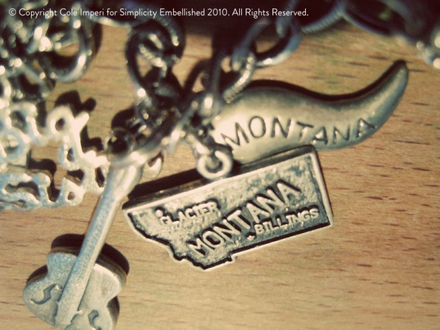 Charm Bracelet with State of Montana Charm
