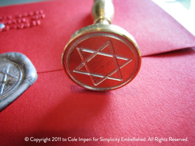 Wax Seal Star of David