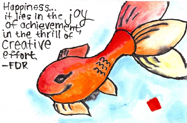Gold Fish Etegami