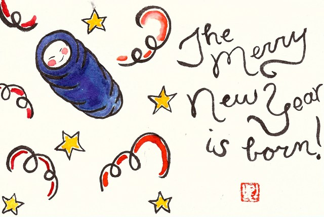 New Year's Eve Etegami