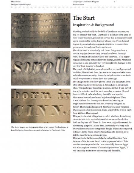 Cole Imperi Process Book Page 2