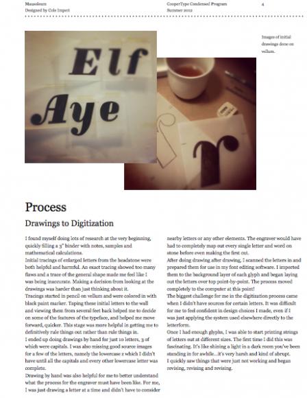 Cole Imperi Process Book Page 4
