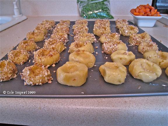 Unbaked Thumbrint Cookies