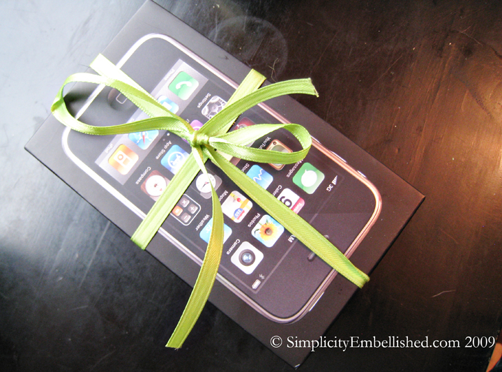 Unique Wrapping using an iPhone