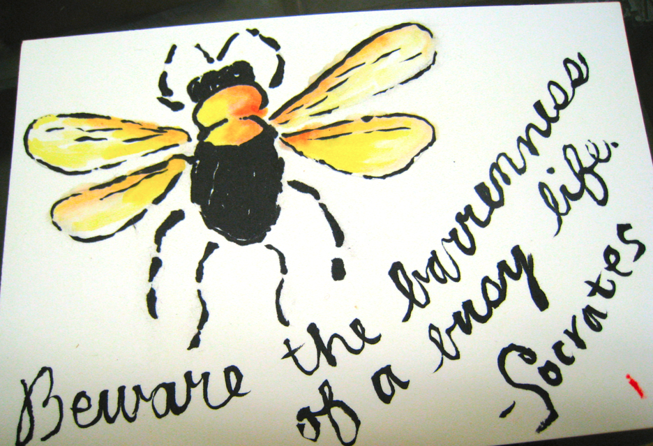 bumble bee etegami