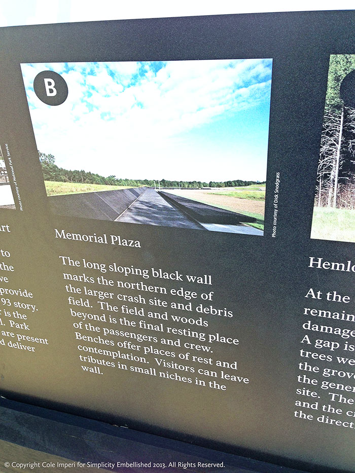 flight 93 memorial interpretive panel