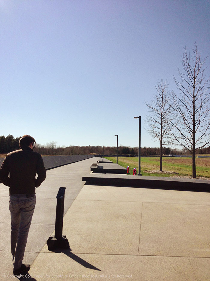 flight 93 memorial walkway