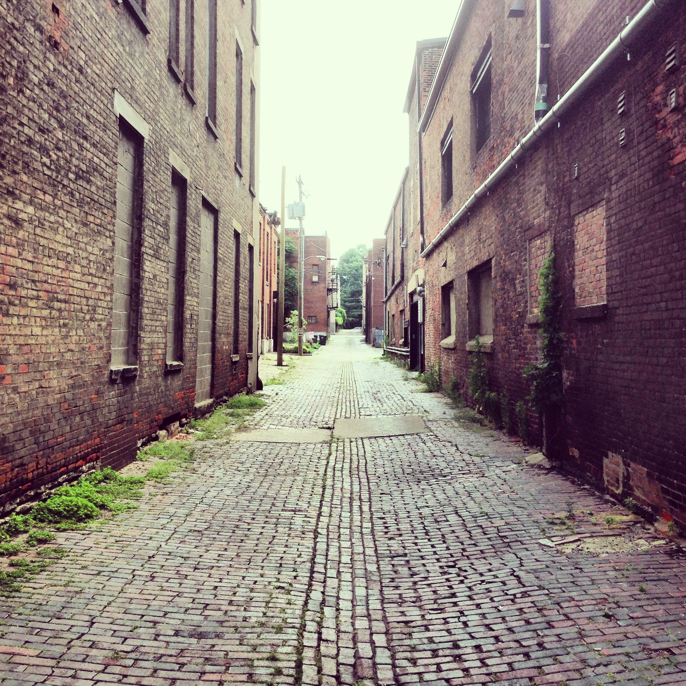 There are neat cobblestone alleys everywhere.