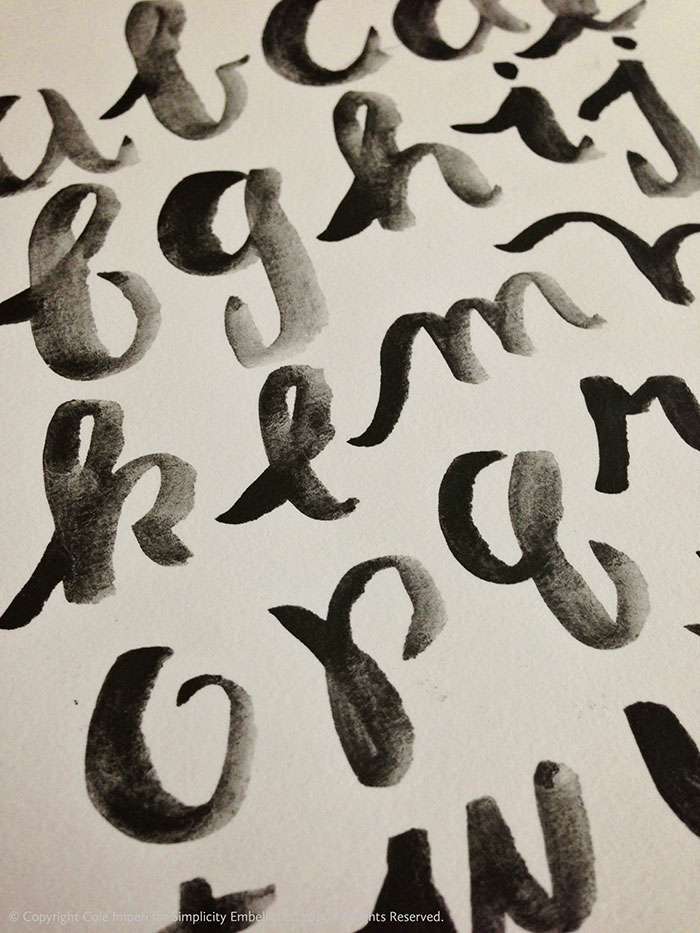 Brush Lettering with Graphite