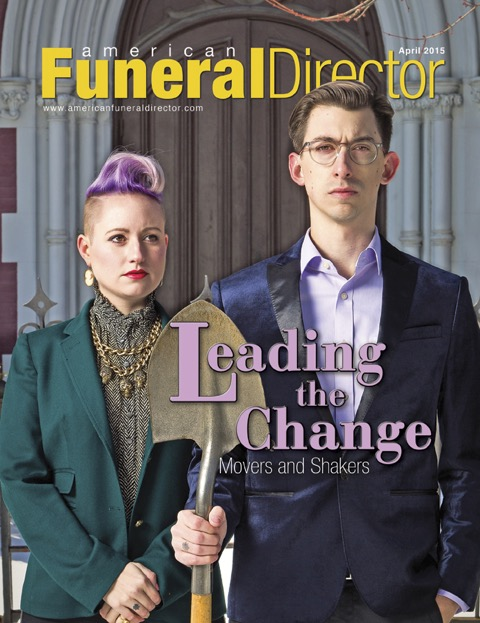 Cole and Victor Imperi made the cover of the April 2015 issue of American Funeral Director Magazine.