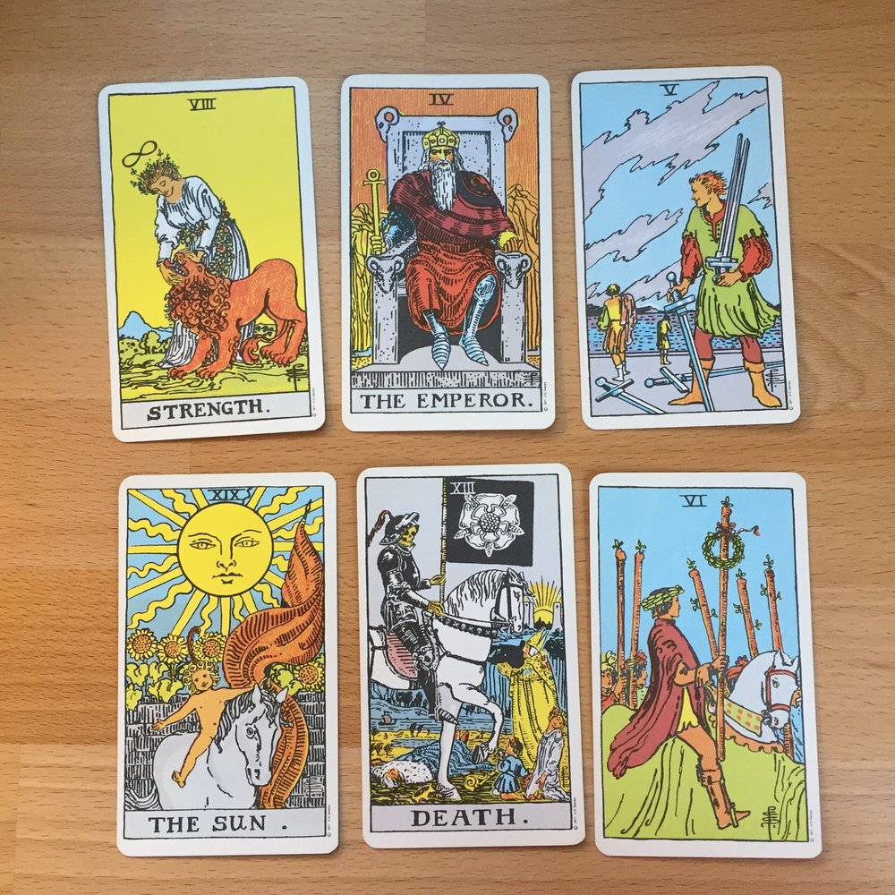 This is my Rider Tarot deck.